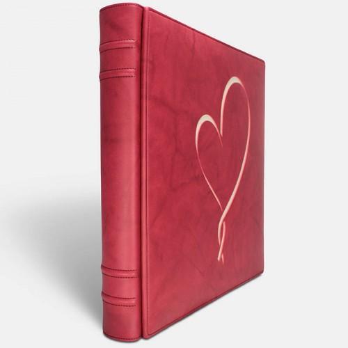 Album de fotos - Vaqueta Rojo Hearth 2 - Pielfort