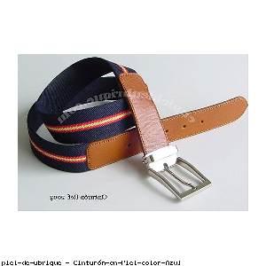 Cinturón en Piel color Azul