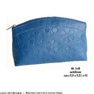Neceser en Piel color Azul