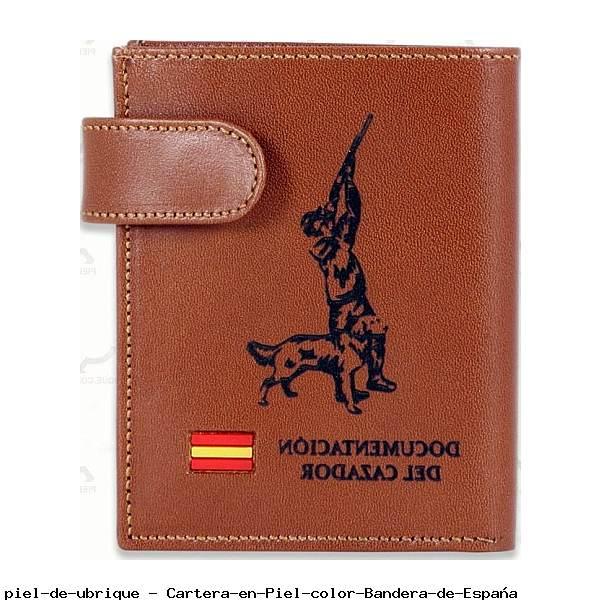 Cartera en Piel color Bandera de España