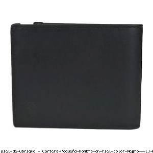 Cartera Pequeña Hombre en Piel color Negro - El Potro
