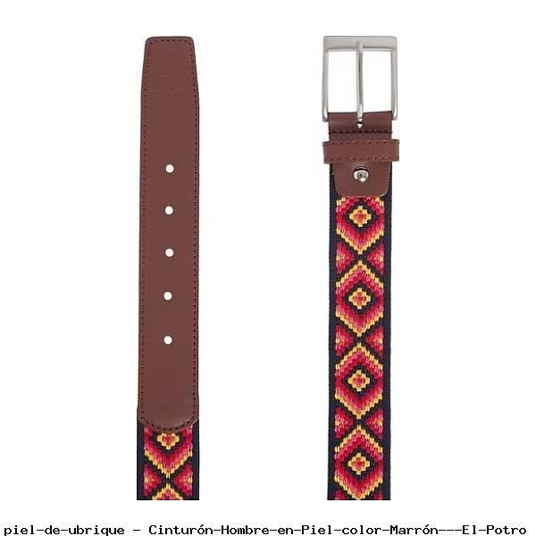Cinturón Hombre en Piel color Marrón - El Potro