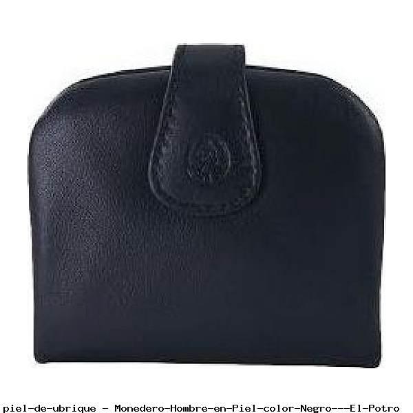 Monedero Hombre en Piel color Negro - El Potro