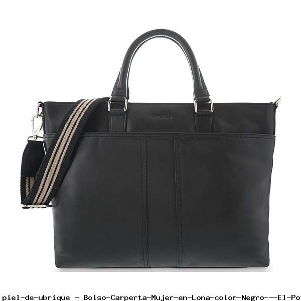 Bolso Carperta Mujer en Lona color Negro - El Potro