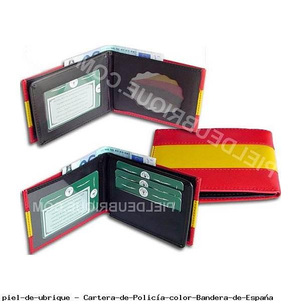 Cartera de Policía color Bandera de España