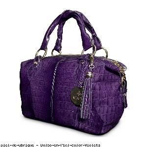 Bolso en Piel color Violeta