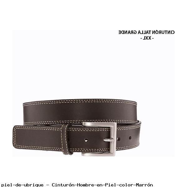 Cinturón Hombre en Piel color Marrón