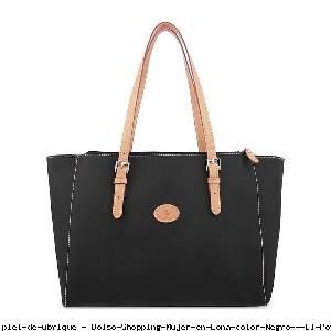 Bolso Shopping Mujer en Lona color Negro - El Potro