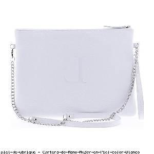 Cartera de Mano Mujer en Piel color Blanco