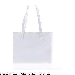 Bolso en Piel color Blanco