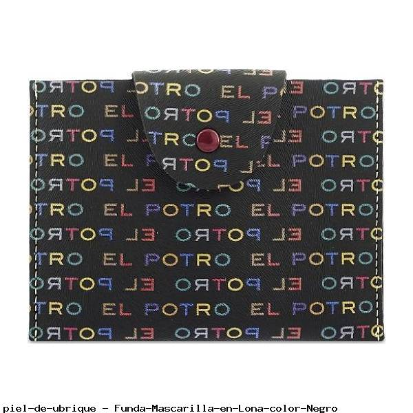 Funda Mascarilla en Lona color Negro