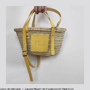 Capazo Mujer de Palma color Amarillo