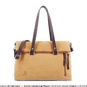 Bolso Shopping Mujer en Piel color Camel - El Potro