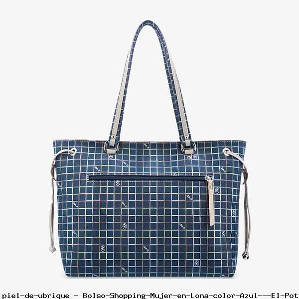 Bolso Shopping Mujer en Lona color Azul - El Potro