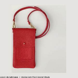 Bolso en Piel color Rojo