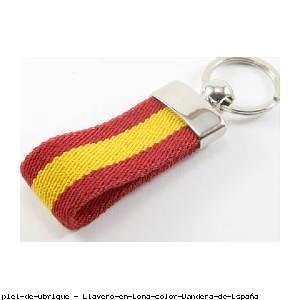 Llavero en Lona color Bandera de España