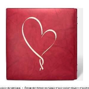 Álbum de fotos en Simil Piel color Rojo - Pielfort