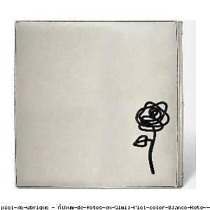 Álbum de fotos en Simil Piel color Blanco Roto - Pielfort
