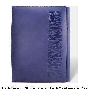 Álbum de fotos en Piel de Vaquetilla color Azul - Pielfort