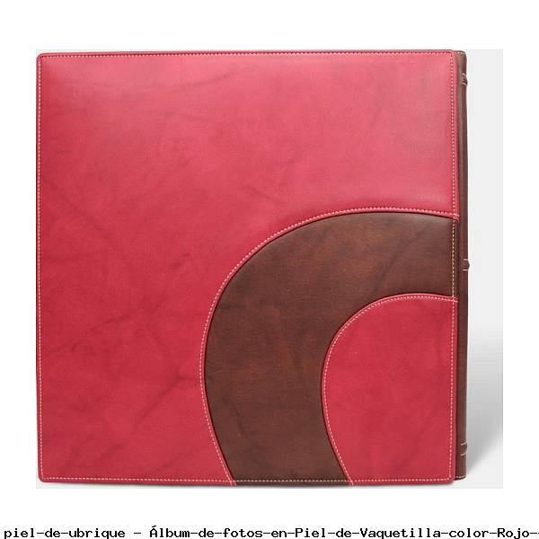 Álbum de fotos en Piel de Vaquetilla color Rojo - Pielfort