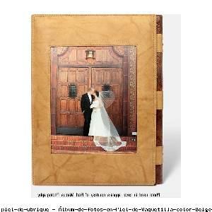 Álbum de fotos en Piel de Vaquetilla color Beige - Pielfort