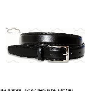 Cinturón Hombre en Piel color Negro