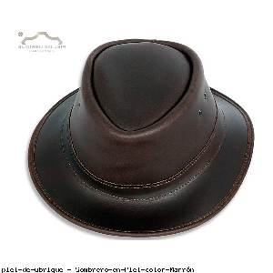 Sombrero en Piel color Marrón