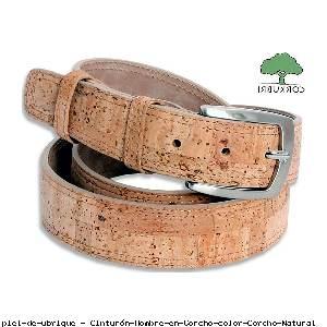 Cinturón Hombre en Corcho color Corcho Natural