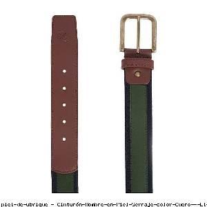 Cinturón Hombre en Piel Serraje color Cuero - El Potro