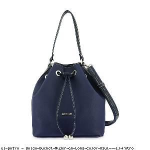 Bolso Bucket Mujer en Lona color Azul - El Potro