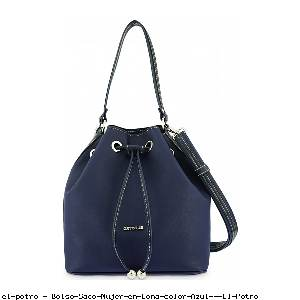 Bolso Saco Mujer en Lona color Azul - El Potro