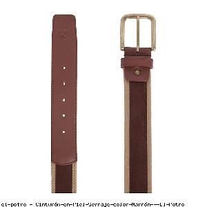 Cinturón en Piel Serraje color Marrón - El Potro