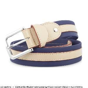 Cinturón Mujer en Lona y Piel color Azul - El Potro