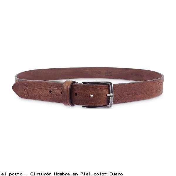 Cinturón Hombre en Piel color Cuero