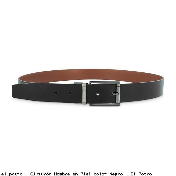 Cinturón Hombre en Piel color Negro - El Potro