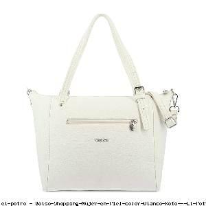 Bolso Shopping Mujer en Piel color Blanco Roto - El Potro