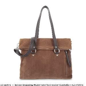 Bolso Shopping Mujer en Piel color Castaño - El Potro