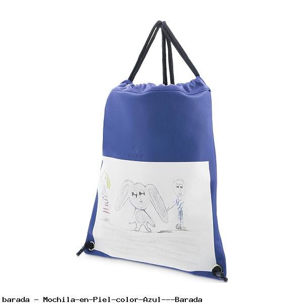 Mochila en Piel color Azul - Barada