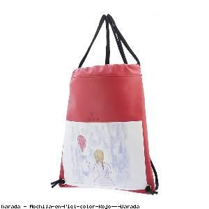 Mochila en Piel color Rojo - Barada
