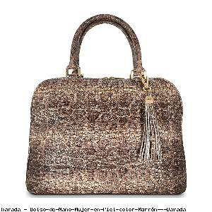 Bolso de Mano Mujer en Piel color Marrón - Barada