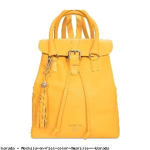 Mochila en Piel color Amarillo - Barada