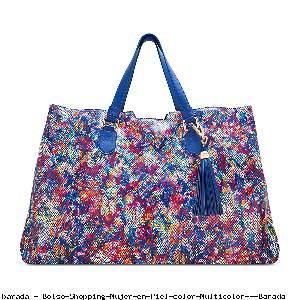 Bolso Shopping Mujer en Piel color Multicolor - Barada