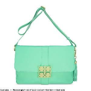 Messenger en Piel color Verde - Barada