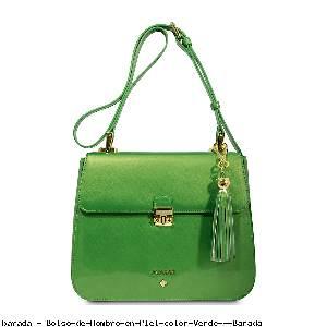 Bolso de Hombro en Piel color Verde - Barada
