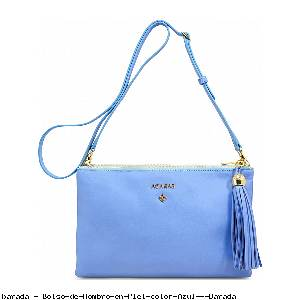 Bolso de Hombro en Piel color Azul - Barada