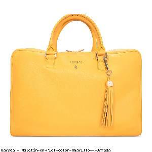 Maletín en Piel color Amarillo - Barada