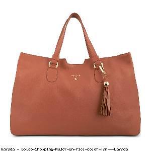 Bolso Shopping Mujer en Piel color Tan - Barada