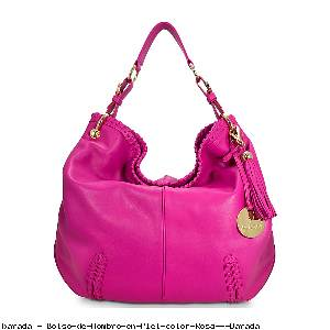 Bolso de Hombro en Piel color Rosa - Barada