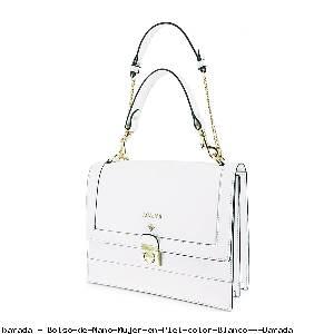 Bolso de Mano Mujer en Piel color Blanco - Barada