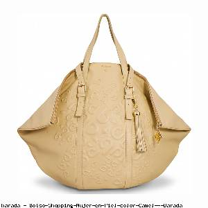 Bolso Shopping Mujer en Piel color Camel - Barada